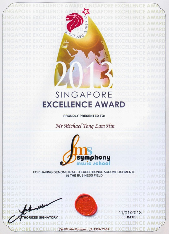 Singapore Excellence Award 2013