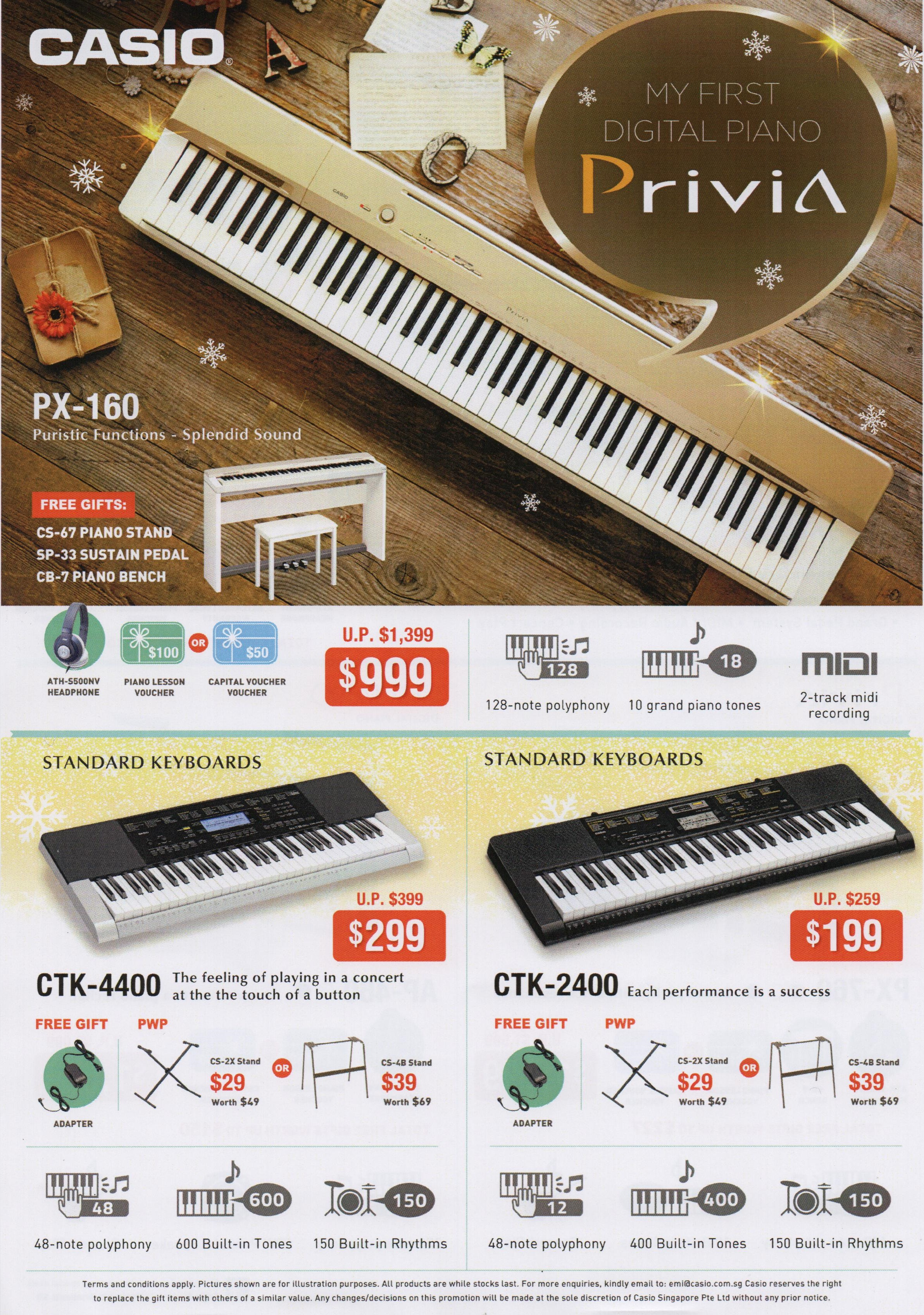 Casio Xmas 2016 Promotion